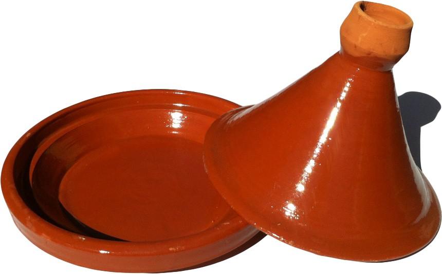 Plat tajine terre cuite 34 cm - Plat a tajine en terre cuite ...
