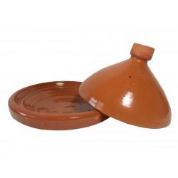 Plat tajine de cuisson en terre cuite vernissé 31 cm