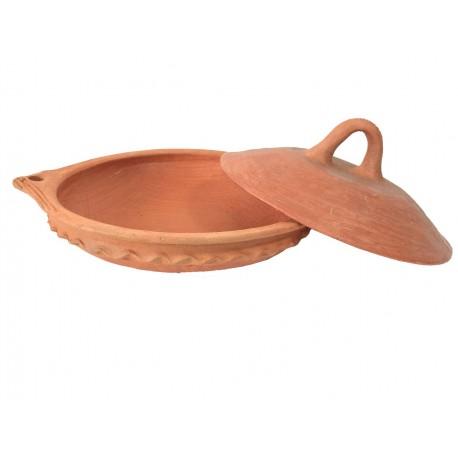 Plat tajine tagra de cuisson en terre cuite 33 cm