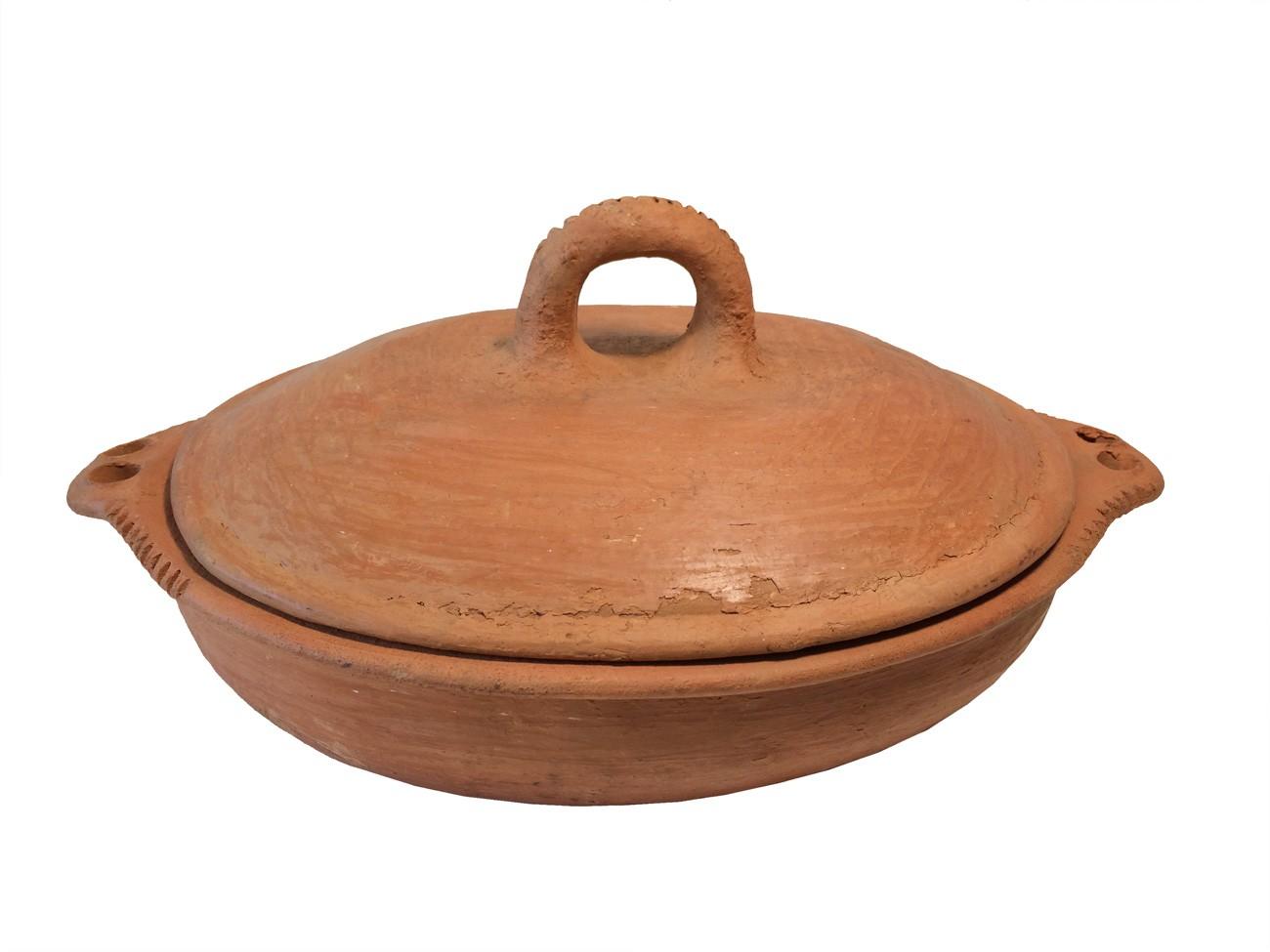Plat tajine terre cuite tagra ovale et son brasero cm - Plat tajine terre cuite ...