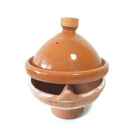 Plat tajine de cuisson vernissé 27 cm et son brasero sans armature