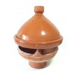 Plat tajine de cuisson en terre cuite vernissé 31 cm et son brasero sans armature