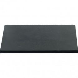 Margelle en pierre reconstituée plate droite 50 x 30 x 2,5 cm gris anthracite