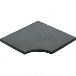 Margelle en pierre reconstituée plate angle rentrant 2,5 cm gris anthracite