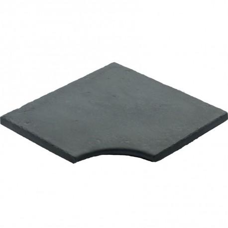 Margelle en pierre reconstituée plate angle rentrant 30 x 30 x 2,5 cm gris anthracite