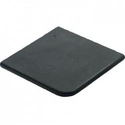 Margelle en pierre reconstituée plate angle sortant 2,5 cm gris anthracite