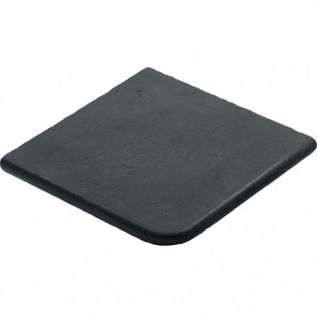 Margelle en pierre reconstituée plate angle sortant 30 x 30 x 2,5 cm gris anthracite
