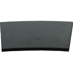 Margelle en pierre reconstituée plate courbe 38 x 30 x 2,5 cm gris anthracite