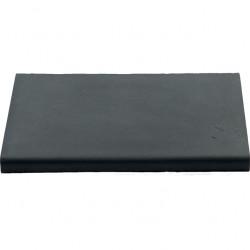 Margelle en pierre reconstituée plate droite 50 x 33 x 4 cm gris anthracite
