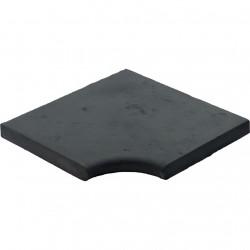 Margelle en pierre reconstituée plate angle rentrant 4 cm gris anthracite
