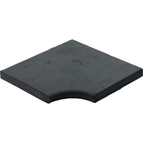 margelle en pierre reconstitue plate angle rentrant 4 cm gris anthracite