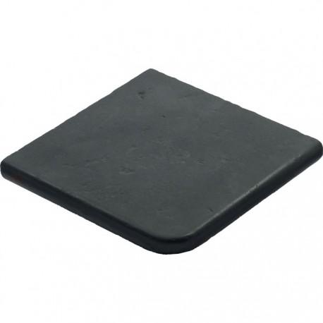Margelle en pierre reconstituée plate angle sortant 33 x 33 x 4 cm gris anthracite