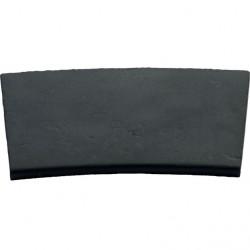 Margelle en pierre reconstituée plate courbe 47 x 33 x 4 cm gris anthracite