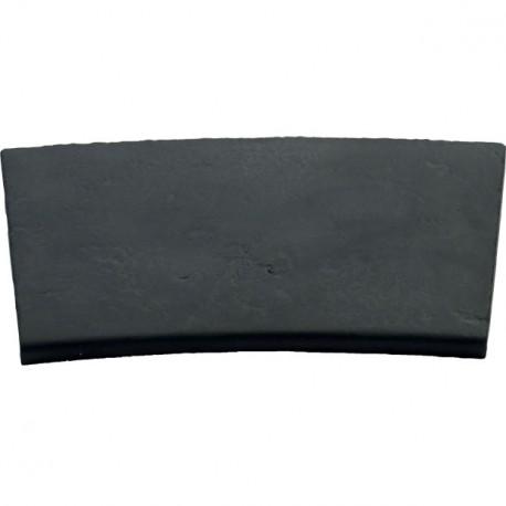 Margelle en pierre reconstituée plate courbe 4 cm gris anthracite