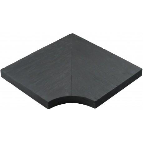 Margelle en pierre reconstituée angle rentrant schiste 30 x 30 x 4 cm