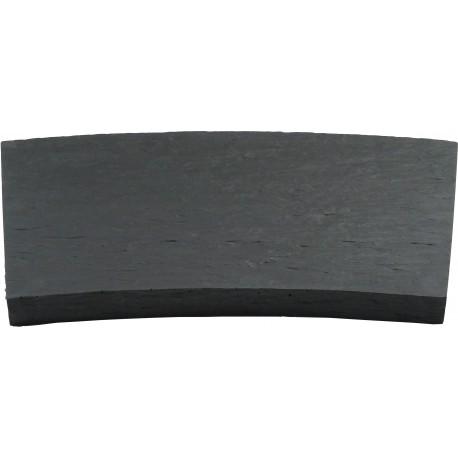 Margelle en pierre reconstituée courbe 46,5 x 30 x 4 cm schiste