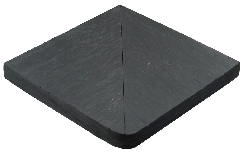 Margelle En Pierre Reconstituee Angle Sortant 40 X 40 X 4 Cm Schiste