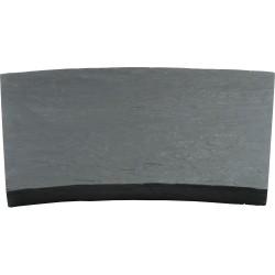 Margelle en pierre reconstituée courbe 46,5 x 40 x 4 cm schiste