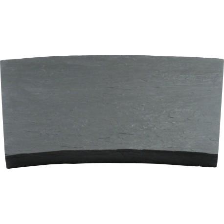 Margelle en pierre reconstituée courbe schiste 60 x 40 x 4 cm