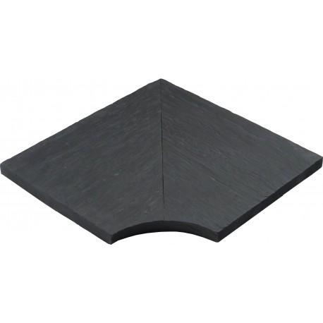 Margelle en pierre reconstituée angle rentrant 30 x 30 x 2,5 cm schiste