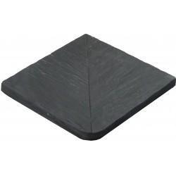Margelle en pierre reconstituée angle sortant 30 x 30 x 2,5 cm schiste