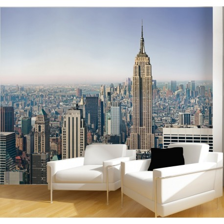 papier peint panoramique empire state. Black Bedroom Furniture Sets. Home Design Ideas