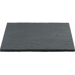 Margelle en pierre reconstituée droite 60 x 40 x 2,5 cm schiste