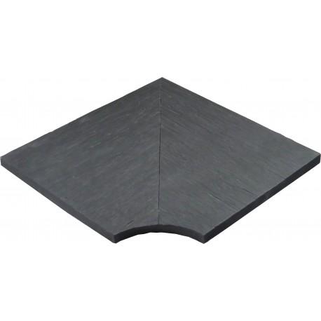 Margelle en pierre reconstituée angle rentrant schiste 40 x 40 x 2,5 cm