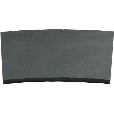 Margelle en pierre reconstituée courbe 46,5 x 40 x 2,5 cm schiste
