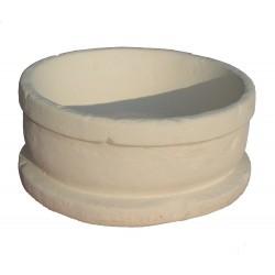 Jardinière en pierre reconstituée ronde 45 x 45 x 20 cm blanc