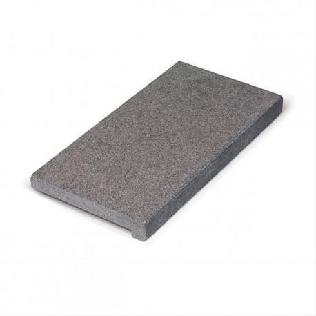 Margelle en pierre naturelle Pepperino dark satino 60 x 30 x 3-5 cm