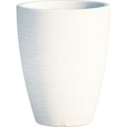 Jardiniere en polypropylène conique Adone Round 30 x 30 x 38 cm blanc