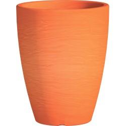Jardiniere en polypropylène conique Adone Round 30 x 30 x 38 cm orange