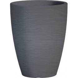Jardiniere en polypropylène conique Adone Round 30 x 30 x 38 cm gris anthracite