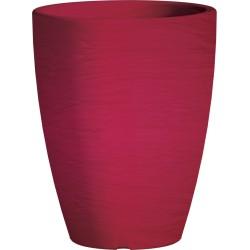 Jardiniere en polypropylène conique Adone Round 30 x 30 x 38 cm rose