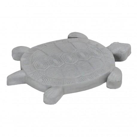 Pas japonais de jardin en pierre reconstituée animaux tortue gris clair 30 x 28 x 3 cm