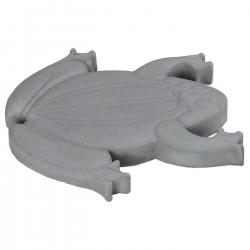 Pas japonais de jardin en pierre reconstituée animaux grenouille gris clair 30 x 28 x 3 cm