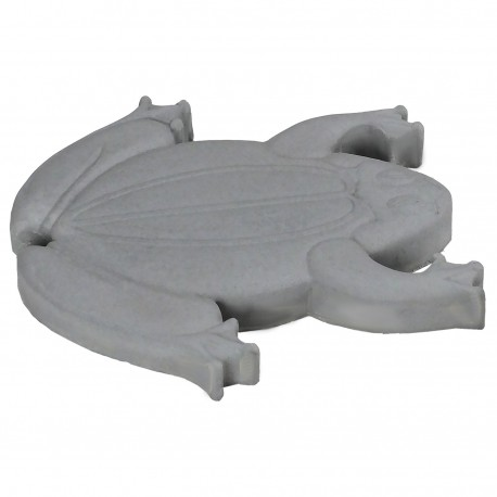 Pas japonais en pierre reconstituee animaux grenouille gris clair