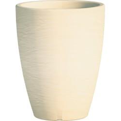 Jardiniere en polypropylène conique Adone Round 30 x 30 x 38 cm beige