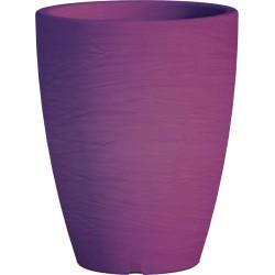 Jardiniere en polypropylène conique Adone Round 30 x 30 x 38 cm violet