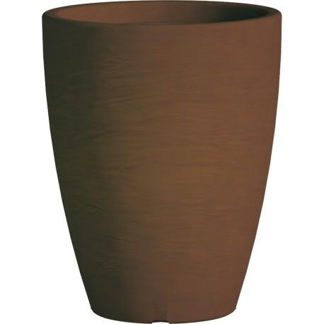 Jardiniere en polypropylène conique Adone Round 30 x 30 x 38 cm marron
