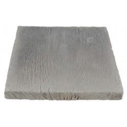 Pavé de terrasse en pierre reconstituée à coller aspect bois blanchi 20 x 20 x 3 cm