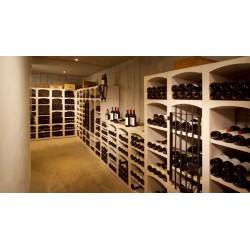 Casiers à bouteilles en pierre reconstituée blanc pour 248 bouteilles