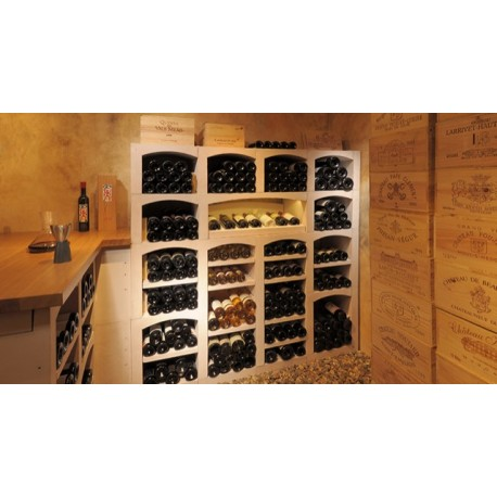 Casiers à bouteilles en pierre reconstituée blanc pour 404 bouteilles