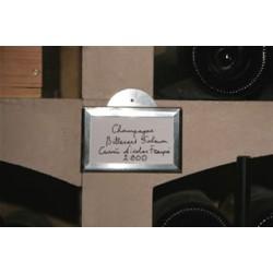Porte-étiquette en zinc naturel pour la cave 8,7 x 5,7 cm à coller