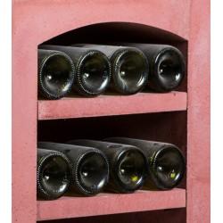 Tablette de séparation en pierre reconstituée rouge pour système de casiers à bouteilles VINICASE