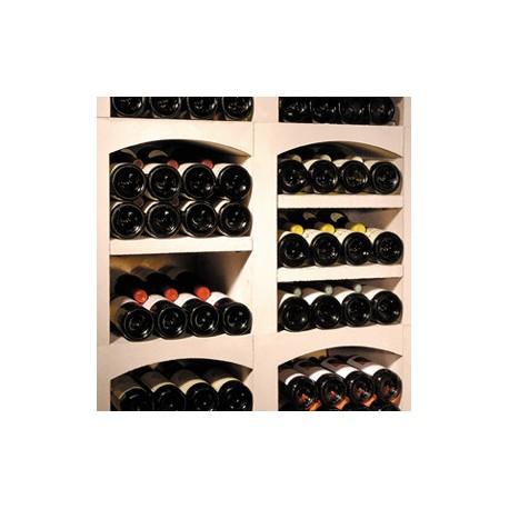 Tablette de séparation en pierre reconstituée blanc pour système de casiers à bouteilles VINICASE