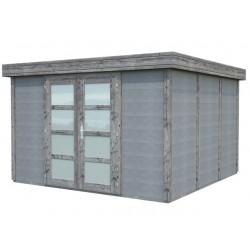 Abri de jardin en béton NOAH 9,83 m2 graphite gris