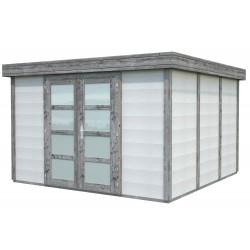 Abri de jardin en béton NOAH 9,83 m2 graphite blanc