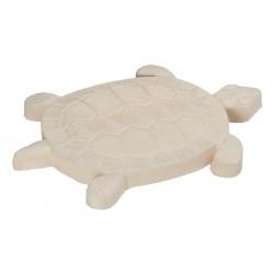 Pas japonais de jardin en pierre reconstituée animaux tortue ocre 30 x 28 x 3 cm